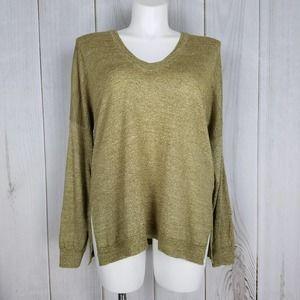 J. Crew Golden Tan Merino Wool Linen Blend Sweater